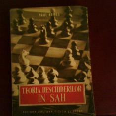 Paul Keres Teoria deschiderilor in sah - Carte sport