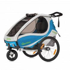 Remorca de bicicleta Qeridoo Kidgoo1 2018 albastru aaquamarin