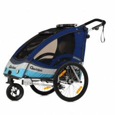 Remorca de bicicleta Qeridoo Sportrex1, albastra, 2017