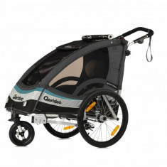 Remorca de bicicleta pentru copii Qeridoo Sportrex 1 model 2017, gri antracit