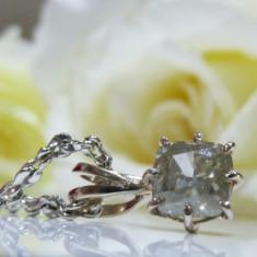 Colier aur 14k cu diamant de 1.0ct - Colier aur alb