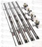 SET 4 Lansete Carbon 3,6m CU 4 MULINETE Wind Blade  CU 11 RULM SI BAIT RUNNER