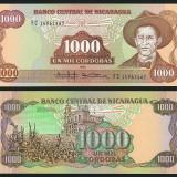 Nicaragua 1985 - 1000 cordobas UNC - bancnota america