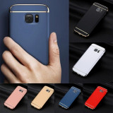Bumper / Husa 3 in 1 Luxury pentru Samsung Galaxy S7 / S7 edge, Samsung Galaxy S7 Edge, Negru, Plastic