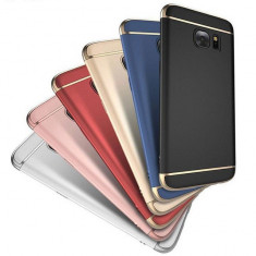 Bumper / Husa 3 in 1 Luxury Samsung Galaxy J5 prime - On5 2016, Alt model telefon Samsung, Albastru, Negru, Rosu, Roz, Plastic
