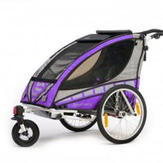 Remorca de bicicleta Sportrex1, violet, 2017