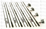 Set 4 Lans.Wind Blade  3,3m cu 4 Mulin MIFINE  Long Cast 7 Rulm  si Baitrunner