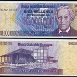 Nicaragua 1990 - 10 milion cordobas UNC - bancnota america