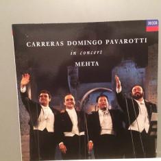 CARRERAS/DOMINGO/PAVAROTTI - IN CONCERT(1990/DECCA/RFG) - Vinil/Impecabil(M-) - Muzica Opera decca classics