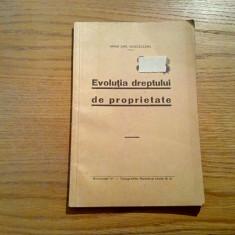 EVOLUTIA DREPTULUI DE PROPIETATE - Mihai Chr. Musceleanu (autograf) - 1938, 34p. - Carte Teoria dreptului