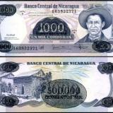 Nicaragua 1985 - 500.000 (1000) cordobas UNC - bancnota america