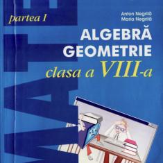 ALGEBRA, GEOMETRIE PENTRU CLASA A VIII A PARTEA I 2000+3 de ANTON NEGRILA - Manual scolar all, Clasa 10, All, Matematica
