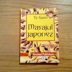 MASAJUL JAPONEZ - Te Sanri - Editura Rovimed, 2000, 219 p. - Carte tratamente naturiste