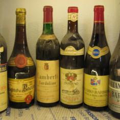6 sticle vin lot ( 21) recoltare 1961/64/66/69/70/70 - Vinde Colectie, Aroma: Sec, Sortiment: Rosu, Zona: Europa