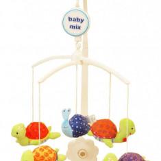 Carusel muzical Chic Turtles - Carusel patut Baby Mix, Multicolor