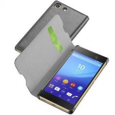 Husa Flip Cover Cellularline BOOKESSXPERIAM5K Agenda Essential Negru pentru Sony Xperia M5