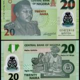Nigeria 2007 - 20 naira UNC, polimer - Carte in engleza