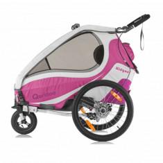 Qeridoo Kidgoo1 Sport - Remorca de bicicleta, violet