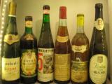 6 sticle vin ALB lot (27) recoltare  1966/1969/1973/1975/1977/1979, Sec, Rosu, Europa