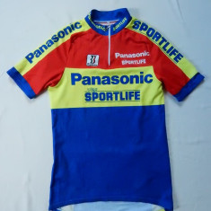 Tricou ciclism Biemme Panasonic Sportlife Made in Italy; 47 cm bust; ca nou - Echipament Ciclism