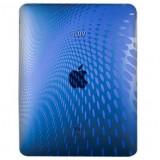 Husa silicon albastru semitransparent (cu puncte) pentru Apple iPad - Husa Tableta Samsung