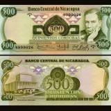 Nicaragua 1984 - 500 cordobas UNC - bancnota america