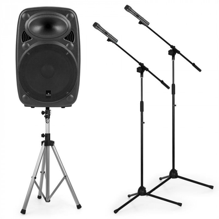 Auna Streetstar 12 Mobile PA sistem 12 '' PA sistem , difuzor, stativ, 2x microafone foto mare
