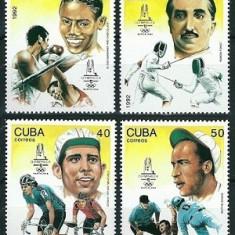 CUBA 1992 - JOCURI OLIMPICE - SERIE NESTAMPILATA - MNH (Mi 3597-3600)