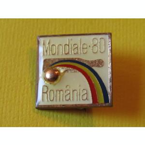 Insigna - Campionatele Mondiale de Popice - ROMANIA 1980