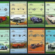 NEVIS 1985 - AUTOMOBILE DE EPOCA - SERIE DE 8 TIMBRE - NESTAMPILATA - MNH / auto66