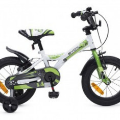 Bicicleta 14Inch Copii 4-7 Ani Moni Byox RAPID Verde
