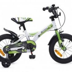 Bicicleta 14Inch Copii 4-7 Ani Moni Byox RAPID Verde - Bicicleta copii