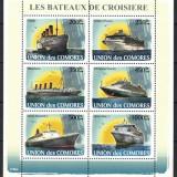 COMORES 2008 - NAVE DE CROAZIERA, TITANIC - BLOC NESTAMPILAT - MNH - COTA MICHEL 13.7 E / navigatie70