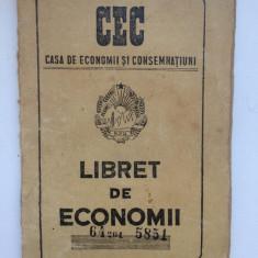 Carnet Cec, Libret De Economii 1956 - Cambie si Cec