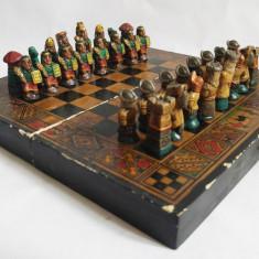 Joc sah deosebit, conchistadori spanioli vs azteci mayasi incasi, vechi vintage - Jocuri Logica si inteligenta