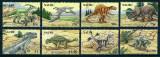 NAURU 2006 - ANIMALE PREISTORICE - SERIE DE 8 TIMBRE - NESTAMPILATA - MNH - COTA MICHEL : 15 E / preistorice74