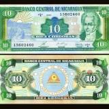 Nicaragua 1990 - 10 cordobas UNC - bancnota america