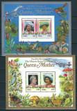 TUVALU - NANUMAGA 1985 - REGALITATE BRITANICA, ANIVERSARE REGINA ELISABETA - 2 BLOCURI DELUXE - NESTAMPILATE - MNH / personalitati248