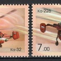 RUSIA 2008 - ELICOPTERE - SERIE DE 2 TIMBRE - NESTAMPILATA - MNH / aviatie08