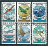 RUSIA 1978 - AVIATIE - SERIE DE 6 TIMBRE - NESTAMPILATA - MNH / aviatie36