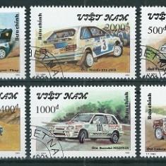 VIETNAM 1991 - AUTOMOBILE - SERIE DE 6 TIMBRE - STAMPILATA / auto31