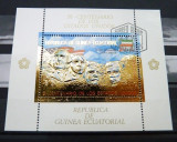 GUINEA ECUATORIALA 1975 - BICENTENAR, STATELE UNITE ALE AMERICII - BLOC STAMPILAT - IN RELIEF CU FOLIE DE AUR / folieaur16