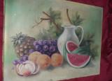 Tablou vechi pictat pe panza fara rama de pictorul I.RADU,Pictura veche,T.Gratui