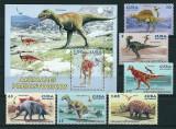 CUBA 2006 - ANIMALE PREISTORICE - SERIE DE 6 TIMBRE+BLOC NESTAMPILAT - MNH / preistorice68