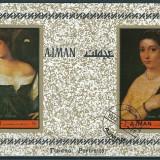 AJMAN 1972 - PICTURA, TIZIANO - BLOC STAMPILAT / pictura103