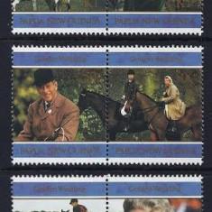 PAPUA NOUA GUINEE 1997 - REGALITATE - SERIE DE 6 TIMBRE - NESTAMPILATA - MNH / personalitati157