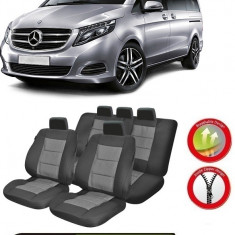 Huse Scaune Dedicate Mercedes-Benz Vito/Viano 5 locuri 2014-2017 Premium - Husa scaun auto
