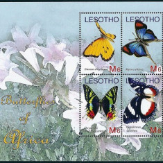 LESOTHO 2007 - FLUTURI - KLB NESTAMPILAT - MNH / fluturi111