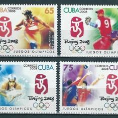 CUBA 2008 - JOCURI OLIMPICE, BEIJING 2008 - SERIE NESTAMPILATA - MNH