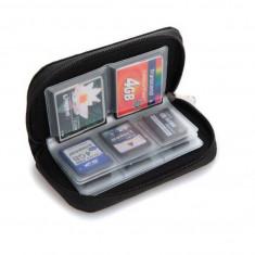 Portofel carduri pt SD / MMC / MS Pro Duo / miniSD / microSD 22 compartimente